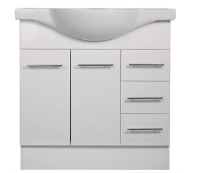 900mm HARPER Semi Recessed Ceramic Bathroom Vanity - 900 - 1 TAP HOLE (900 x 450)