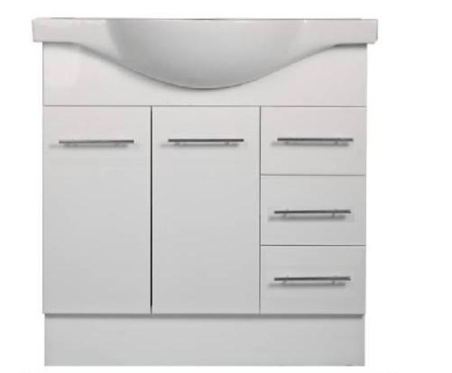 900mm HARPER Semi Recessed Ceramic Bathroom Vanity - 900 - 1 TAP HOLE (900 x 450)