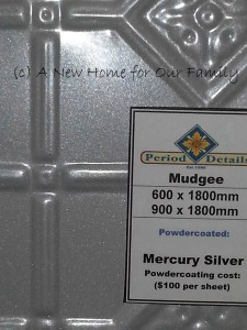 Pressed Tin Panels - Colour: Mercury Silver