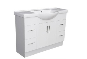Semi Recessed HARPER Ceramic Bathroom Vanity