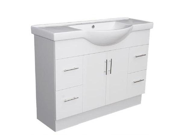 Semi Recessed HARPER Ceramic Bathroom Vanity