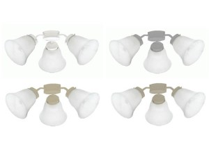 Mercator Auro E27 Light Kit – Alabaster Shades