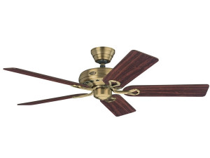 Hunter Savoy Ceiling Fan – Traditional Style in antique brass