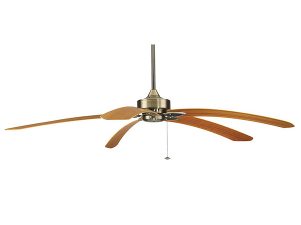 Fanimation Windpointe Ceiling Fan With 5 Long Blades. Antique Bronze / Cherry