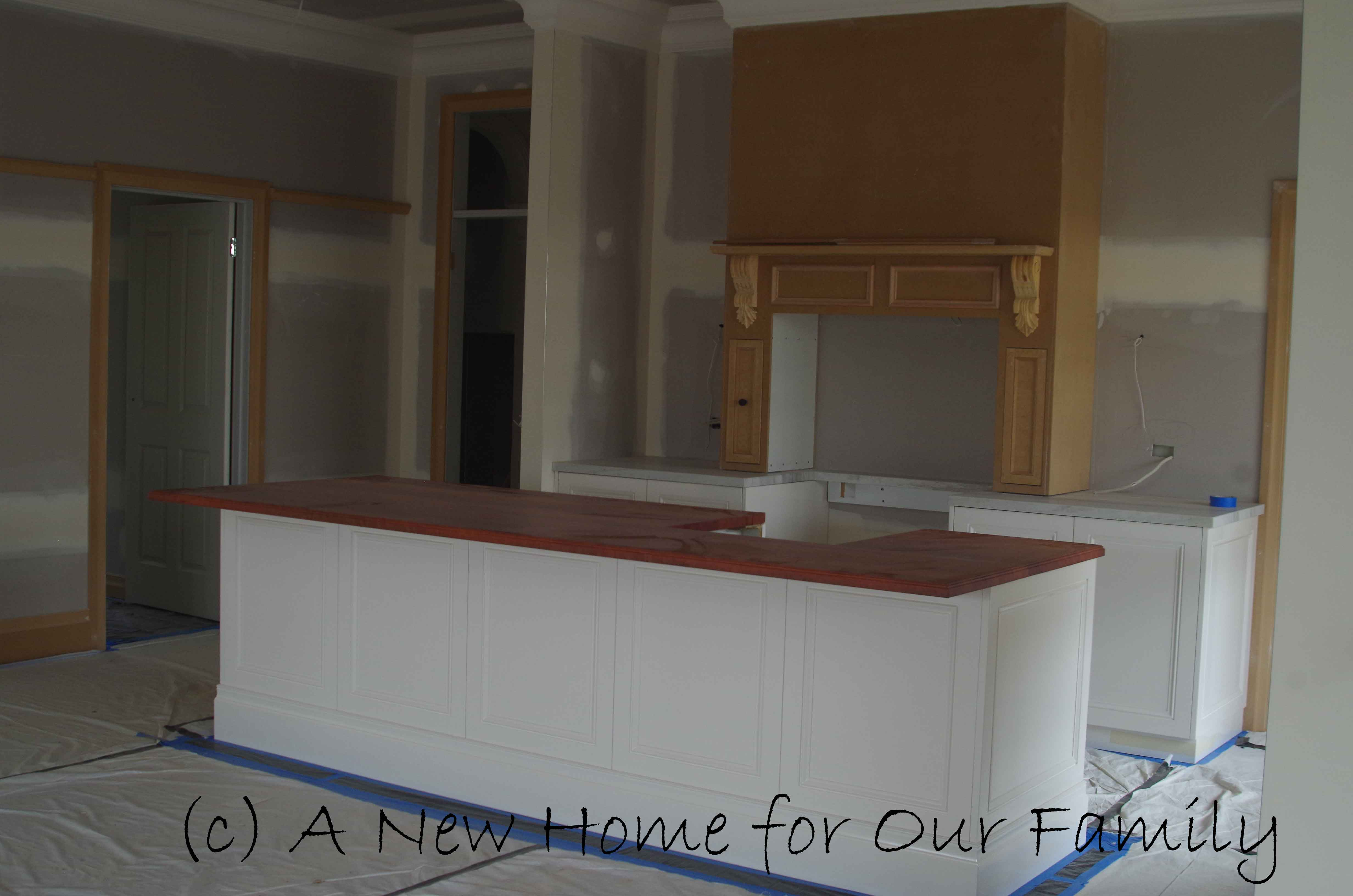 Kitchen benches & cabinets