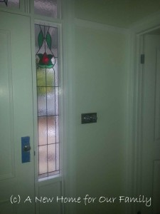 Front Door Stained Glass - obscured