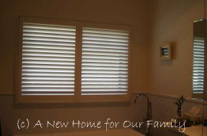 Bathroom Plantation Shutters - PVC