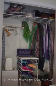 Bedroom 2 wardrobe ELFA fit-out