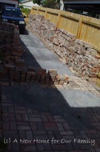 Starting the driveway - 3,000 bricks