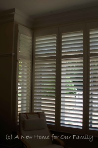 Master bedroom Plantation Shutters - Basswood