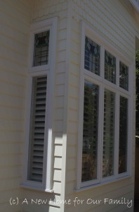 Master bedroom Plantation Shutters - Basswood