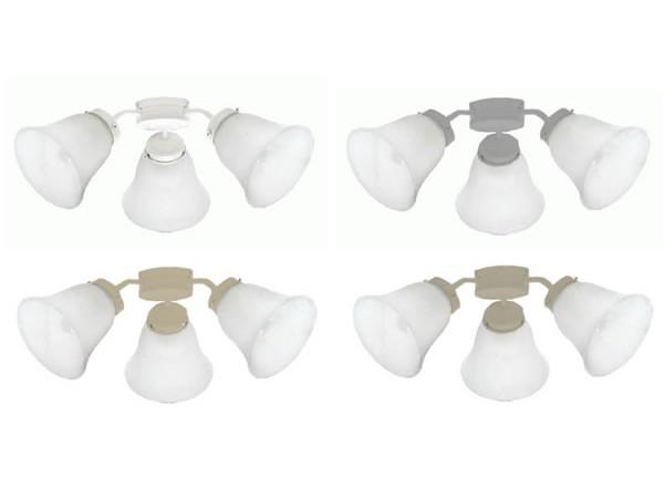 Mercator Auro E27 Light Kit – Alabaster Shades
