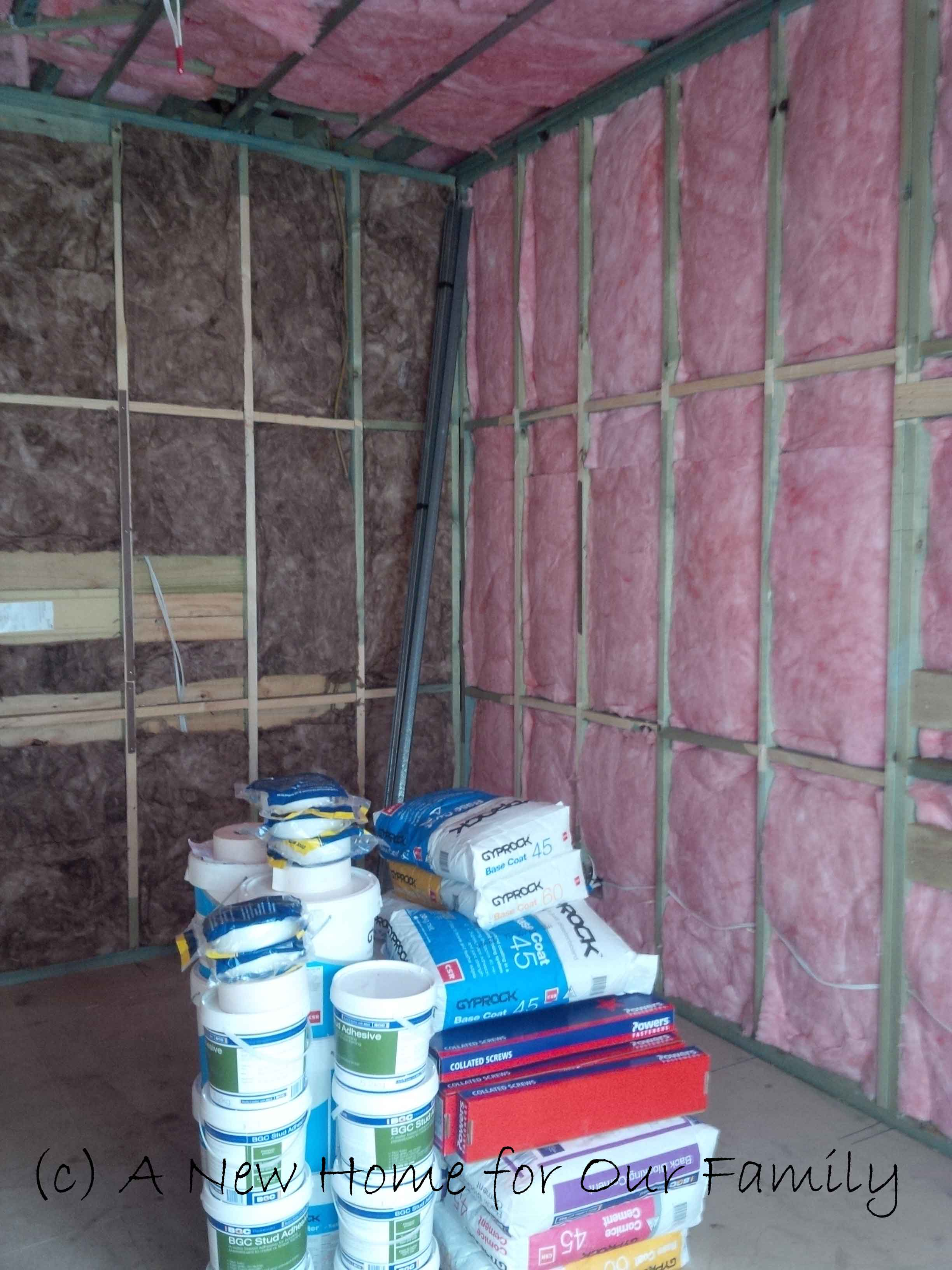 Insulation - Master Bedroom