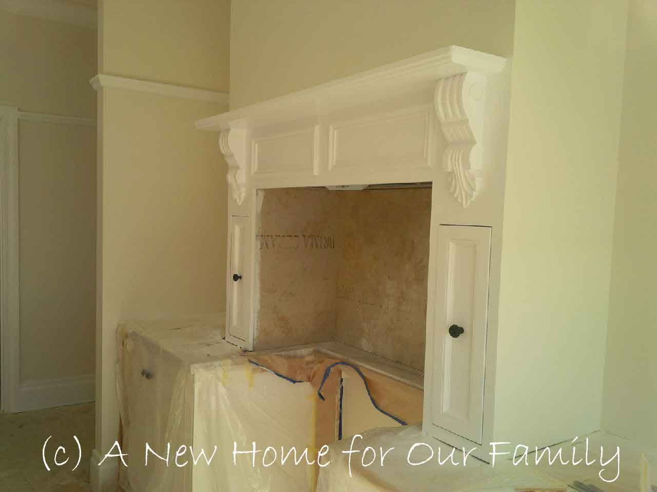 Kitchen Mantel Painted
