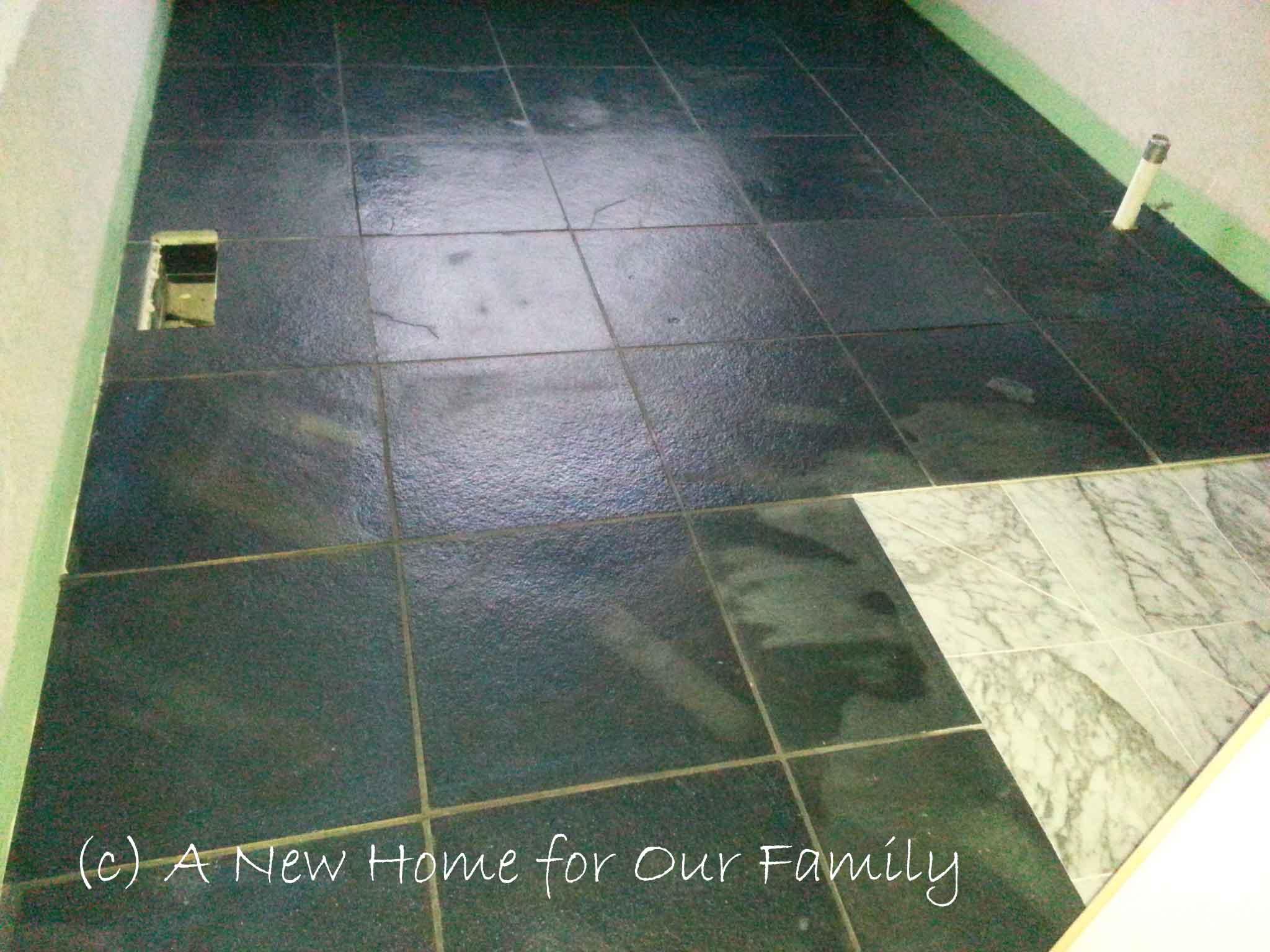 Tiles before sealing